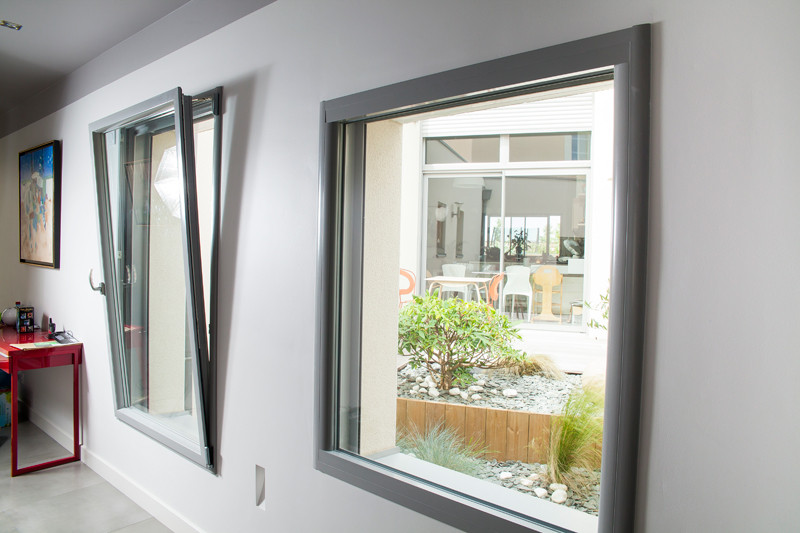 Fenêtre En Aluminium Pour Le Design Et La Couleur Intérieure