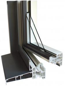 Le design de l 39 aluminium l 39 ext rieur le confort du pvc for Fenetre ral 9006