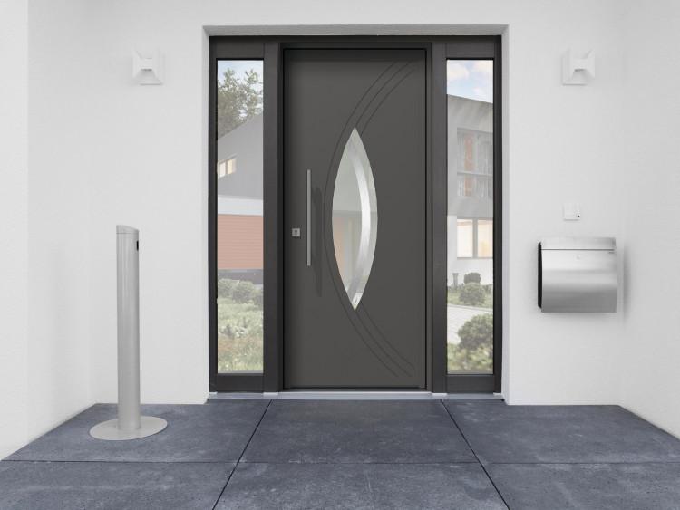 portes d 39 entr e monobloc aluminium menuiserie bouvet. Black Bedroom Furniture Sets. Home Design Ideas